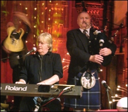 Pipe Major Robert Mathieson playes the Orchestral Chanter on BBC Hogmannay Show